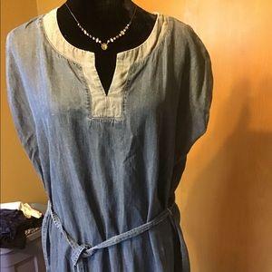 Petite Liz Claiborne cotton/ rayon/linen dress
